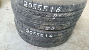 Pair of 2 Michelin Defender 205/55R16 tires (40% tread life)