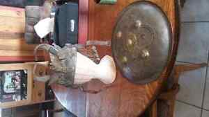 Antique  helmet and shield