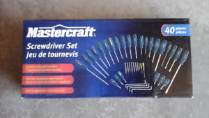 Mastercraft Screwdriver Set  40 pieces