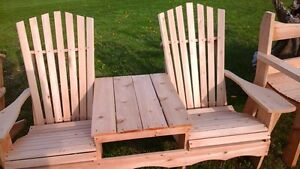 handcrafted double  muskoka chairs  cedar or pine from 99$