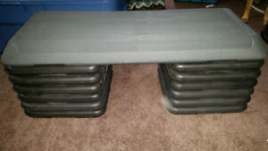 Aerobic Stepper with 3 sets of risers