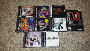 Selling Some Rarer Playstation 1 Titles!