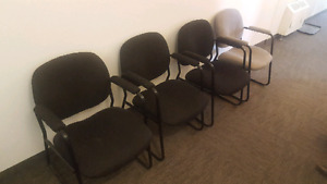 $50 for 4 Office Chairs or $15 each.