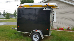Utility trailer covered