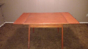Cheap! Apartment Size Solid Wood Draw Leaf Table