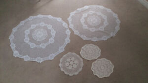"WHITE Circular Table Cloths Various Sizes 36"" 12"" 11"""