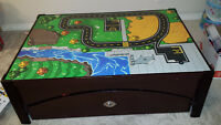 Toy train table and drawer