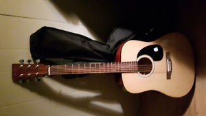 Academy acoustic guitar with case