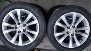 LEXUS,Toyota, Mags and Tire 215-55-R17 Bolt pattern 5x114.3