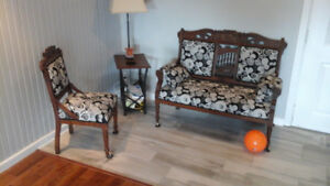 Antique Chairs and Love Seat