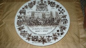 "VINTAGE LOVELY ""THE FATHER'S OF CONFEDERATION 1867-1967"" PLATE Kitchener / Waterloo Kitchener Area image 7"