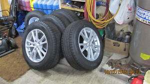 almost new tires on rims