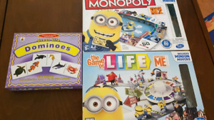 Set of Board Games (Jr Monopoly, Game of Life, CooCoo Clown)