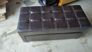 Leather look entry bench