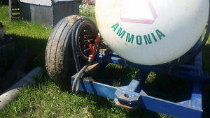 heavy duty trailer and anhydros tank