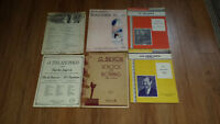 Antique and Vintage Violin & Piano Music Charts LOOK