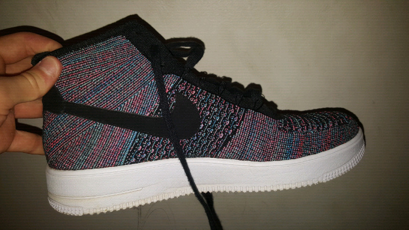 Nike Air Force 1 Flyknit multi purple blue UK12