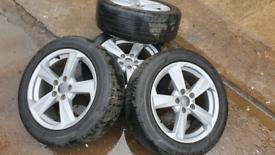 Audi volkswagen alloys alloy wheels 5x112 caddy van skoda