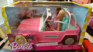 Barbie Jeep with 2 dolls, Brand New In Box, Sealed.