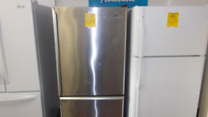 Stainless fridge with 90 day warranty. $499.
