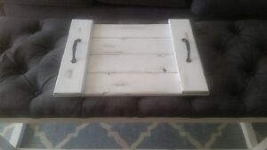 White Distressed Serving Tray *BRAND NEW*