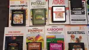24 retro Atari 2600 game cartridge collection ! Kitchener / Waterloo Kitchener Area image 2