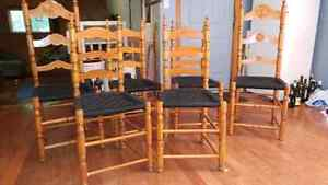 6 wooden ladder back chairs Peterborough Peterborough Area image 4