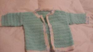 crochet baby bedjackets