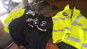 Paramedic gear and textbooks