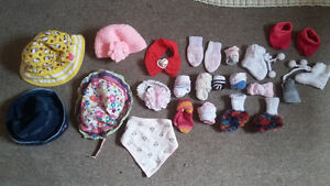 hats, socks, headbands and bibs bundle