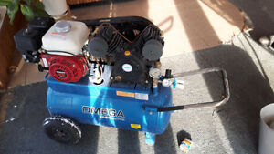 Omega air compressor 20 gallon 5hp honda