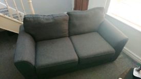 Fabric couches, 2 seater and 3 seater