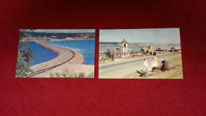 SET OF TWO VINTAGE POSTCARDS - HALIFAX AND CANSO