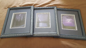 3 framed Glen Scrimshaw prints