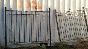 Steel fence sections