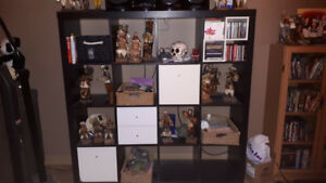 Black IKEA 4X4 Shelving Unit