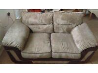 2x2 seater brown sofas £175