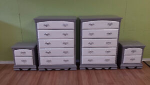 Professionally painted 4 piece dresser set