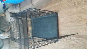 Medium metal crate with pan