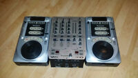 NUMARK DJ CD TURNTABLES AND MIXER FOR SALE
