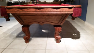 Professional 9 foot pool table for sale