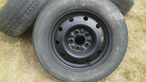 4 Steel Rims-5 Bolt Pattern- Fits Pontiac & Various Chevy... Cambridge Kitchener Area image 1
