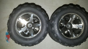 1/10 traxxas stamped wheels and tires