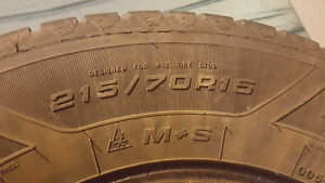 4 Goodyear Nordic Winter Studded tires 215 70 R15