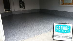 Decorative Chiped Floors, Epoxy, Cabinets, Overhead Storage London Ontario image 7