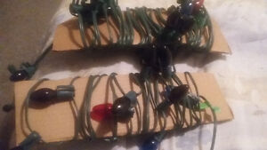 2-strands of Christmas lights::