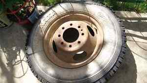 Dually spare tire and old Ford Classic Spare Tire
