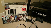 PS3 with 6 games and 2 controllers