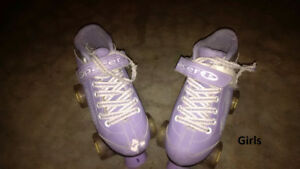 Used Kids Size 3 Boy and Girl Roller Skates