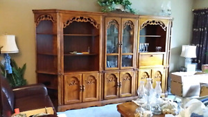 Solid wood wall unit +coffee & 2 end tables